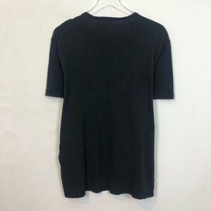 John Varvatos Shirts - John Varvatos Black Short Sleeve 3 Buttom Henley L